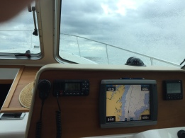 Chart Plotter navigating Neuse River