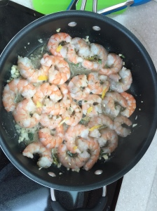 Fresh shrimp dinner