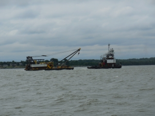 Passing the first barge