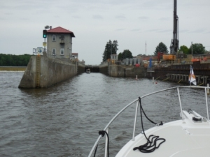 Entering Troy Lock