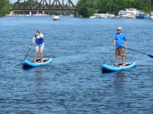 Paddleboarding in Brewertron