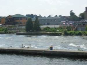 Rushing water port side at Oswego Lock