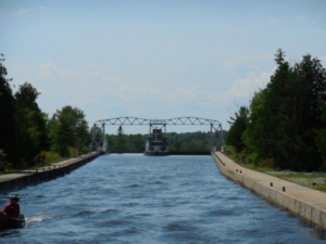 Entering Kirkfield Lift lock