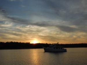 Sunset over Phillip Edward Island