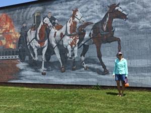 Wall mural - Oswego Fire Station