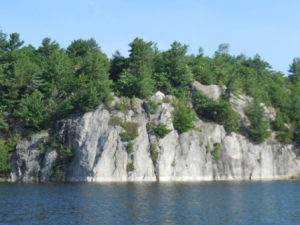 Cliffs on sides of Collins Inlet