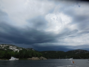 Storm brewing over The Pool