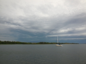 Picnic Island - Squall approaching