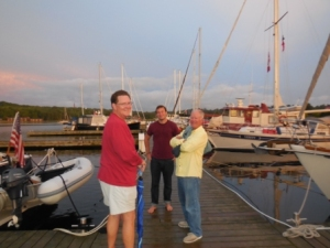 After dinner chat - Mark - the elder, Mark - the younger, and Tim