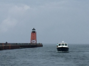 Entering Charlevoix Harbor