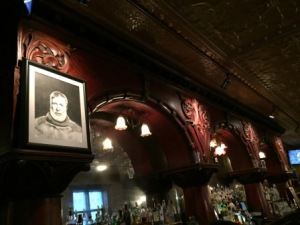 Hemingway picture at bar