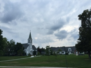 Church and green downtown Harbor Springs