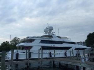 Mega yacht at Jacobson's