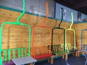 Seats in Ice Cream place
