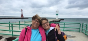 Sisters at Pentwater Channel Walk