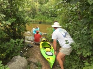 Launching the Kayaks