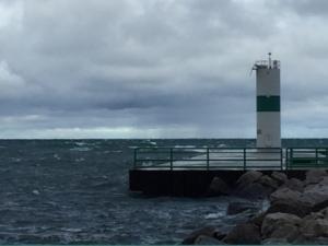 Windy Lake Michigan
