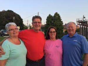 Pam (Tim's sister), Butch, Karen & Tim