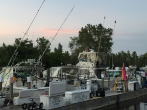 Fishing charters at dock