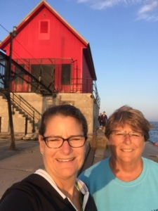 Claire & Denise at breakwater