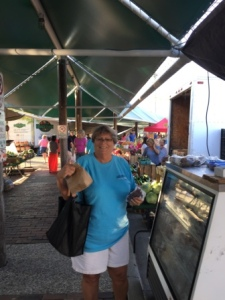 Claire at Farmers Market