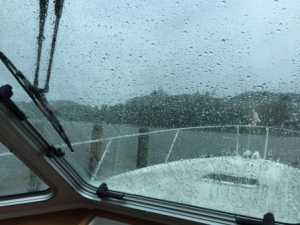 Rainy sunday on the boat