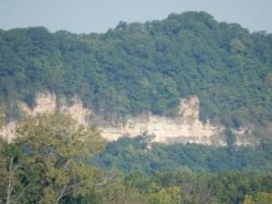 Cliffs along IL River