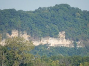 Cliffs along IL River