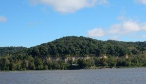 Cliffs along MS River