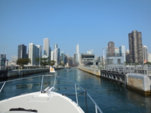 Entering Chicago Lock