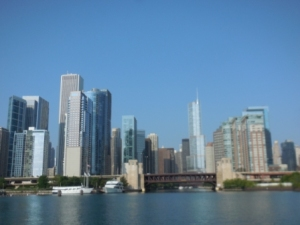 Downtown Chicago from boat