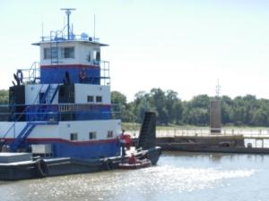 Tug & Canoe - LeGrange Lock
