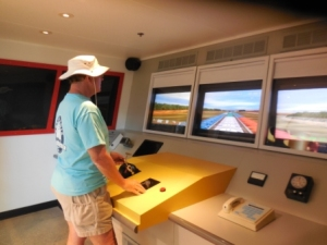 Mark at tow simulator