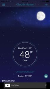 Temp in South Haven