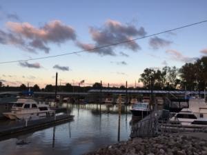 Port Charles Marina at sunrise