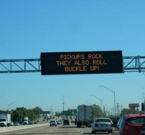 Road signs on Memphis freeways