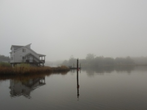 Monday morning fog on Dog River