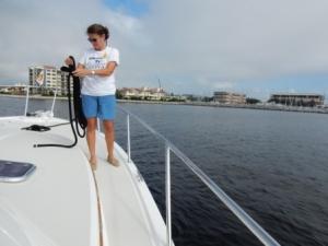 Denise preparing for docking