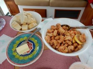 Joe Patti's Shrimp lunch