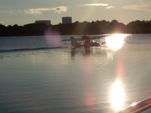 Float Plane in marina