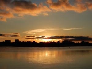 Sunset at Baytowne Marina