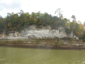 Cliffs on river