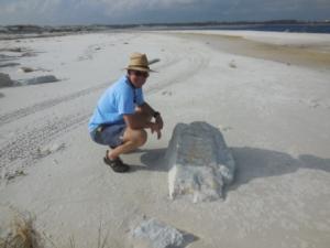Ft McRee marble on beach