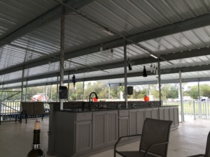 Cruisers patio above facilities
