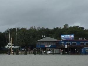 Mariners Marina - fuel dock under water