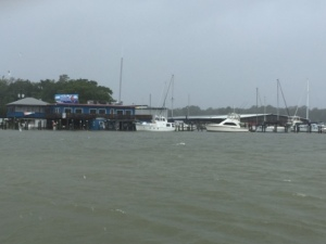 Grand Mariner Marina - Fuel dock under water