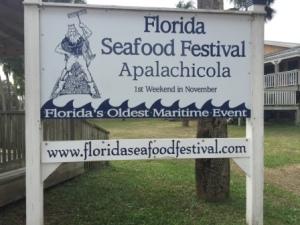 Seafood festival sign