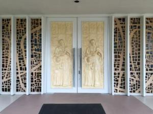 Doors at St Ann's Catholic Church