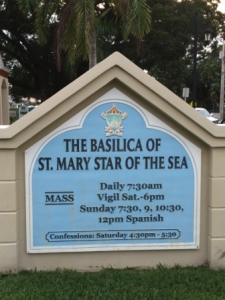 St Mary Star of Sea Basilica Sign