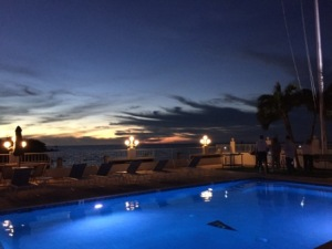 MYC Pool at sunset